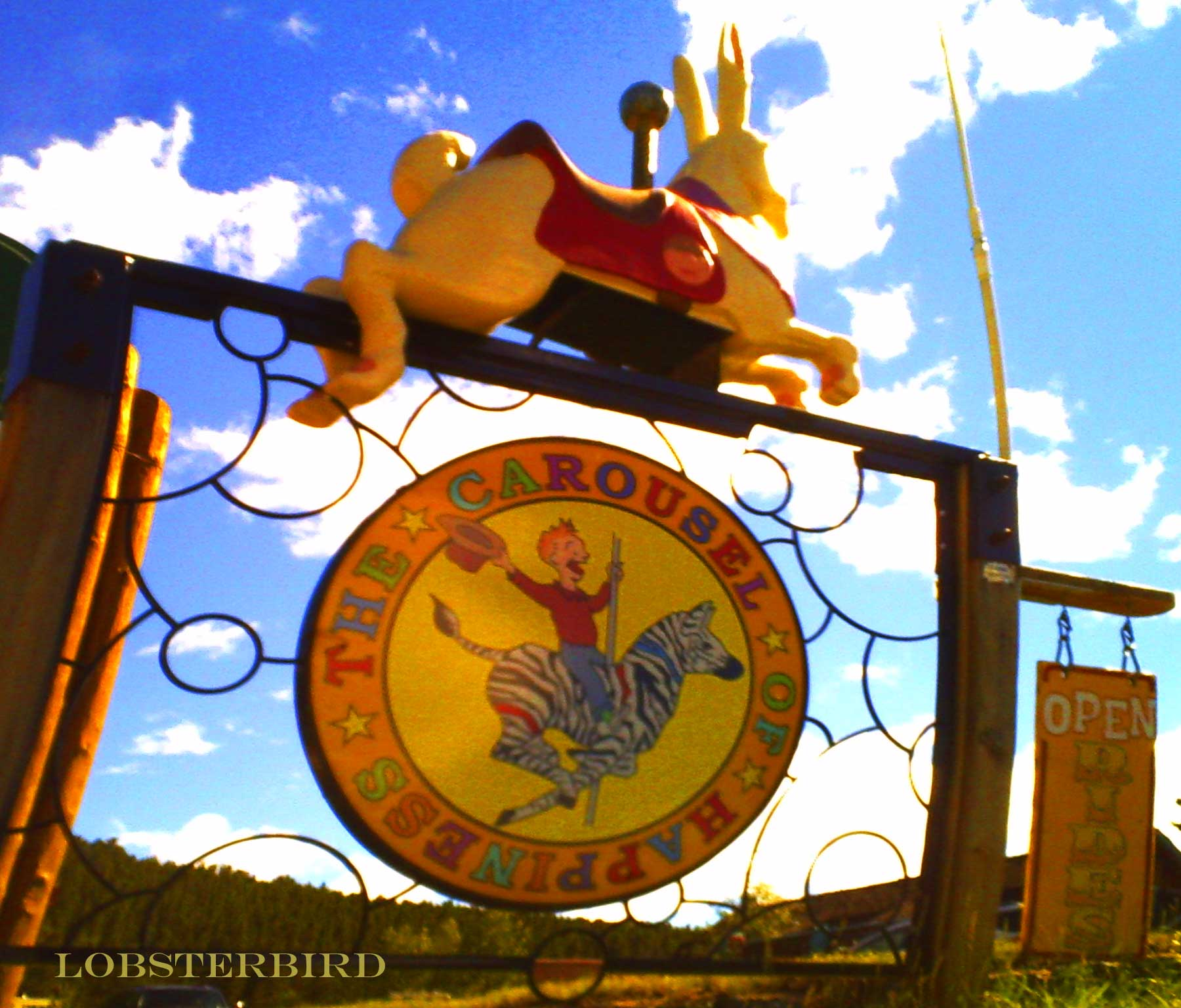 Happiness Carousel rabbit sky love